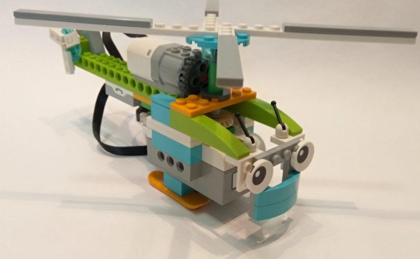 Фотоинструкция по сборке вертолёта WeDo 2.0